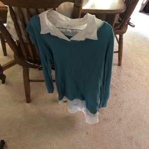 Reitmans Women's faux shirt/sweater.